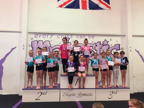 MAJESTIC Gymnastics Academy in Longwell Green hosted this year's South Gloucestershire schools competition.
