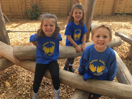 CHILDREN at Hanham Toddlers Pre-school have given the thumbs up to new play equipment recently installed in their garden.