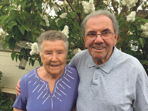 Valerie and Geoffrey set for diamond day
