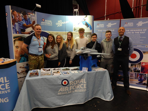 RAF team inspires students