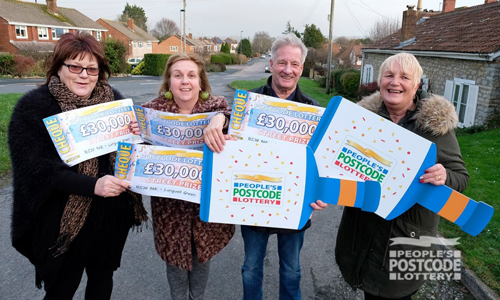 People's Postcode Lottery win is right up our Longwell Green street