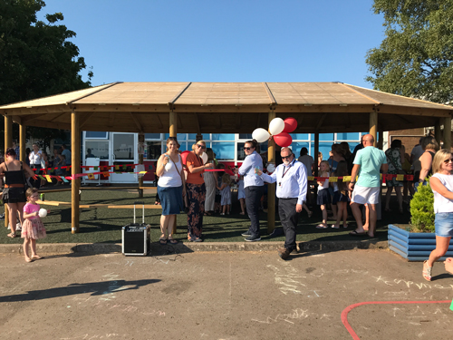 Delight as outdoor classroom opens